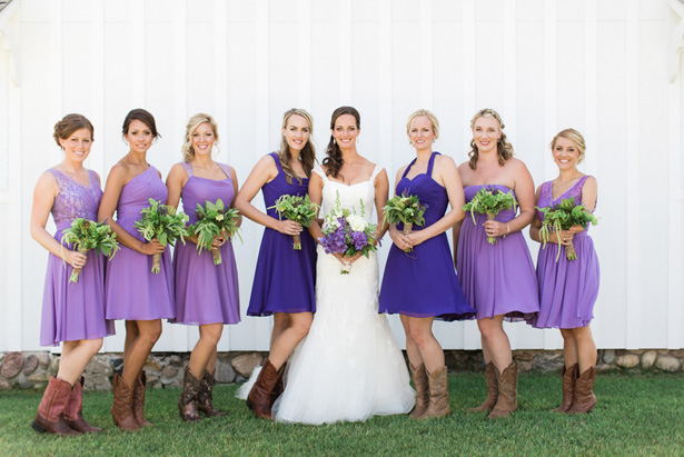 western bridesmaids - Dan and Melissa