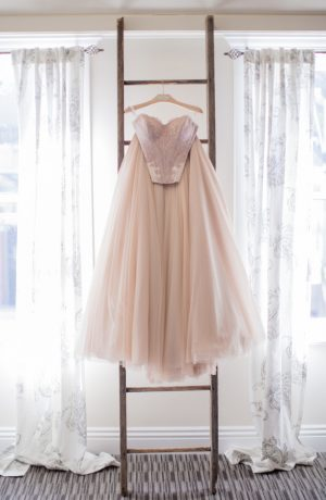 Blush wedding dress - Watson Studios