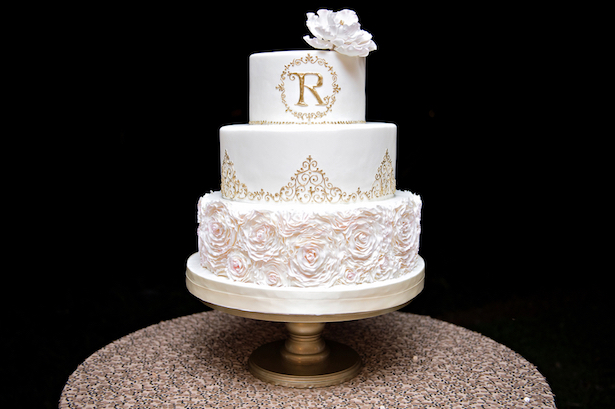 Elegant Wedding Cake - Kristen Weaver Photography