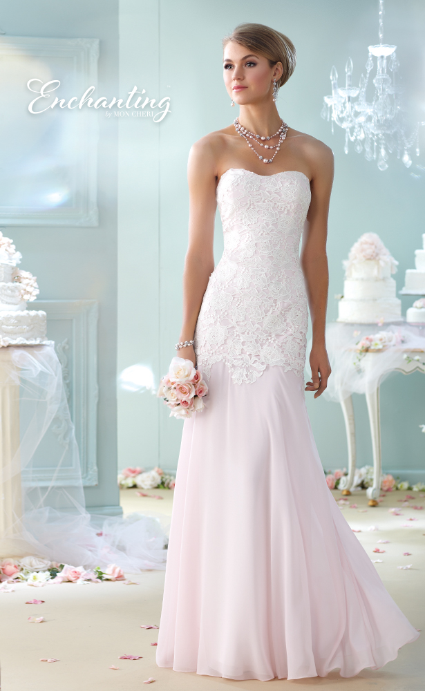 Encahnting by Mon Cheri Wedding Dress Style 215107
