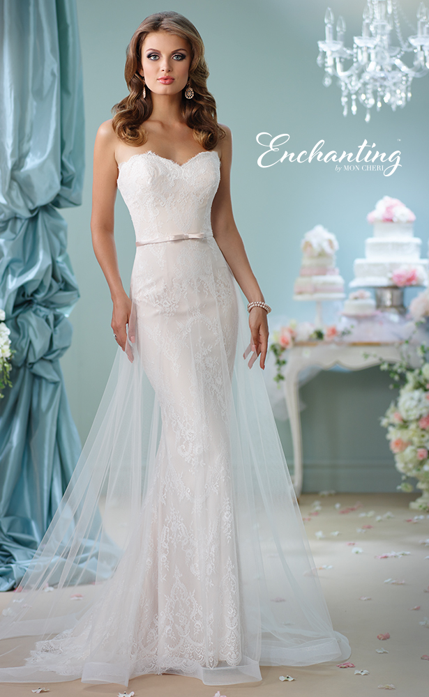 Encahnting by Mon Cheri Wedding Dress 5