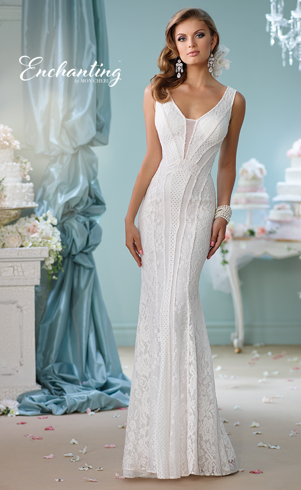 Encahnting by Mon Cheri Wedding Dress Style 116138