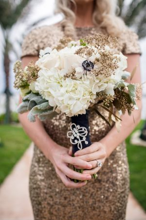 Gold Wedding bouquet -Stacy Anderson Photography