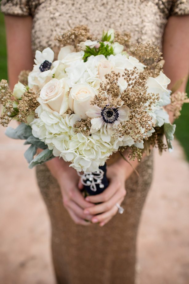 Winter wedding bouquet - Stacy Anderson Photography