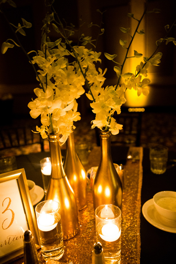 Gold wedding candles - Shawna Hinkel Photography
