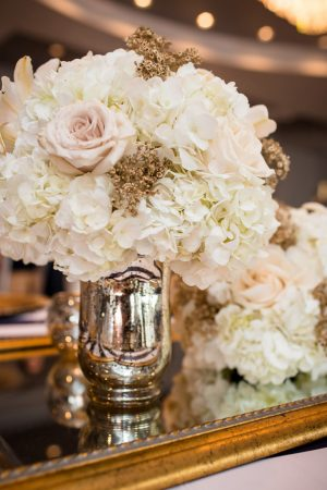 Gold wedding centerpiece -Stacy Anderson Photography