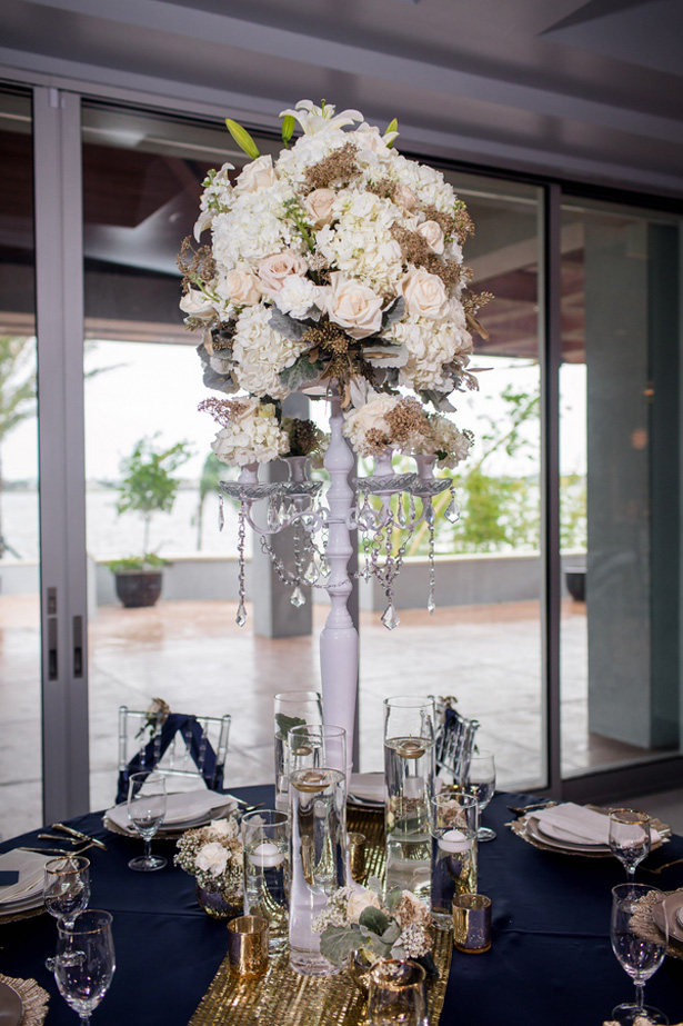 Tall wedding centerpiece -Stacy Anderson Photography
