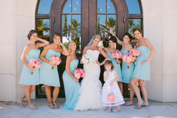 Turquise Bridesmaid Dresses - Bluespark Photography