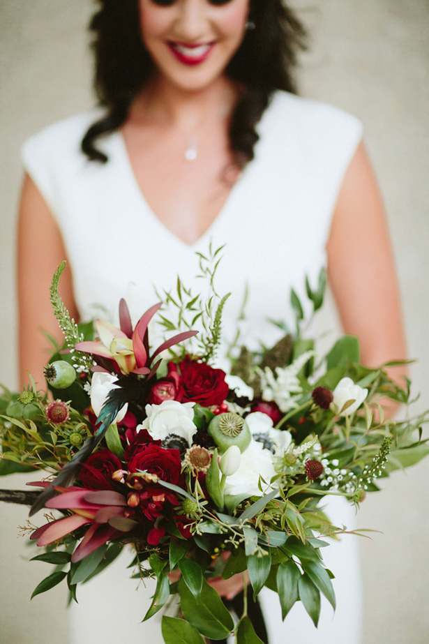 Wedding bouquet -Blue Bend Photography