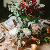 Wedding centerpiece -Blue Bend Photography