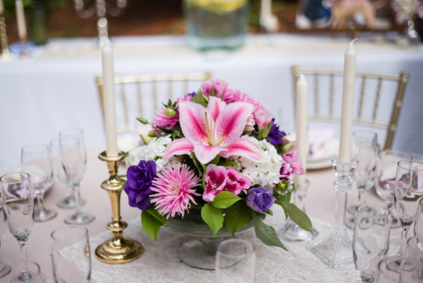 Wedding centerpiece - Laura Elizabeth