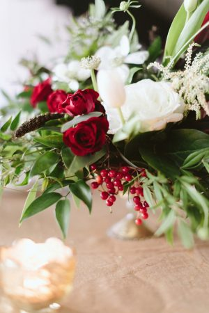 Wedding floral centerpiece -Blue Bend Photography