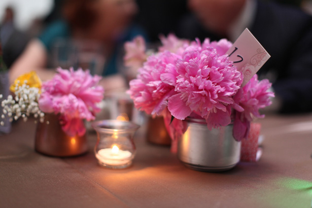 Wedding floral centerpiece - Benfield Photography
