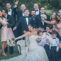 Wedding party photo idea - Kane and Social