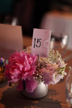 Wedding table number - Benfield Photography
