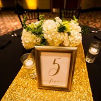 Wedding table number - Shawna Hinkel Photography