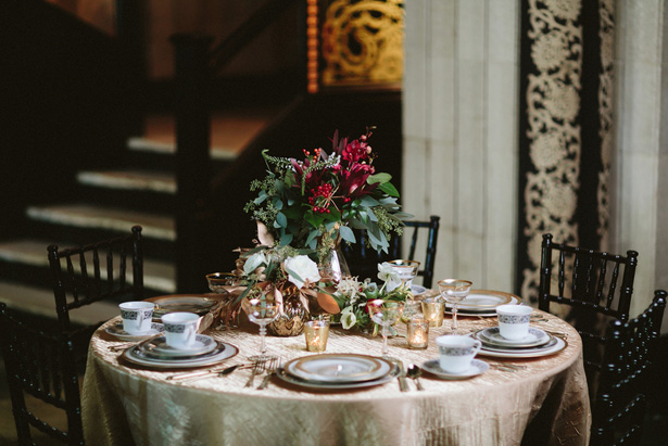 Wedding tablescape -Blue Bend Photography