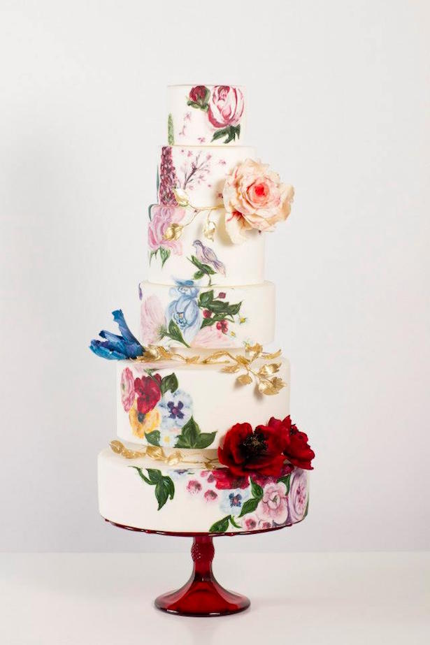 Hand Painted Wedding Cake19