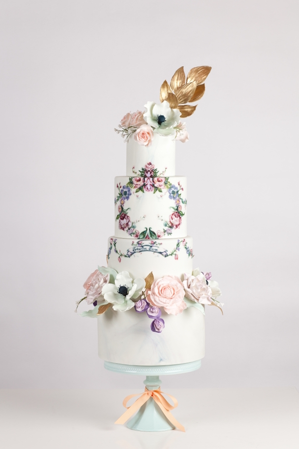 Hand Painted Wedding Cake19a
