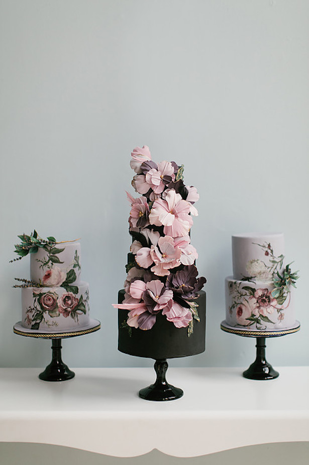 Hand Painted Wedding Cake25