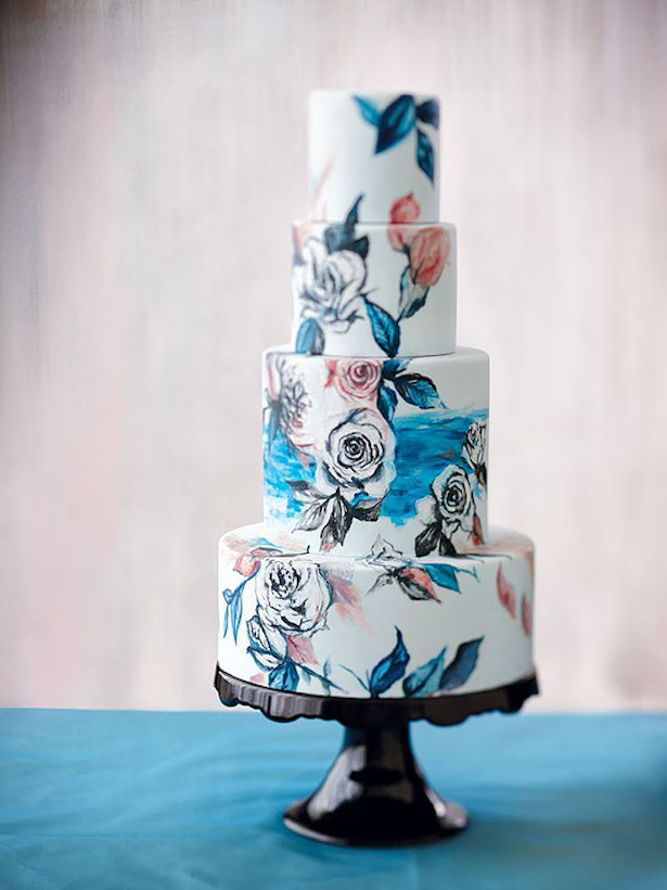 Hand Painted Wedding Cake25e