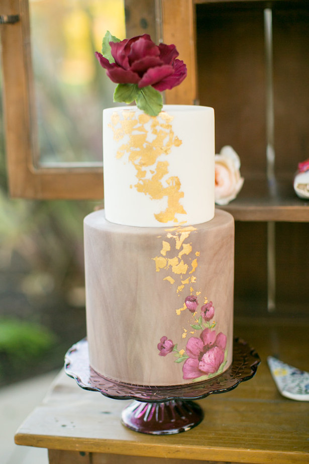 Hand Painted Wedding Cake8a