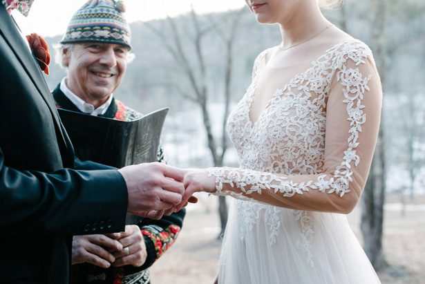 Winter wedding ceremony - Luv Lens
