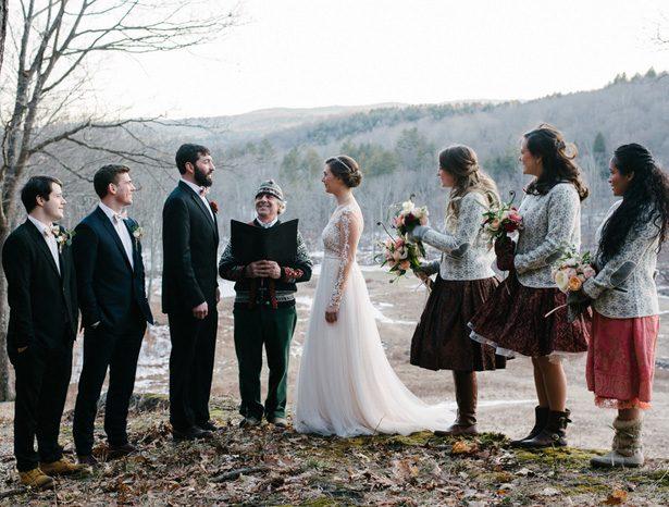 Winter Wedding ceremony - Luv Lens Photography