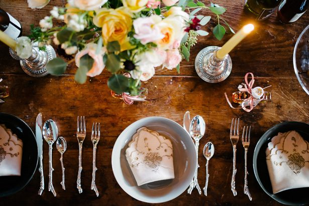 Wedding place setting - Luv Lens Photography
