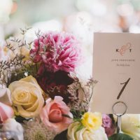 Wedding table number - Adriane White Photography