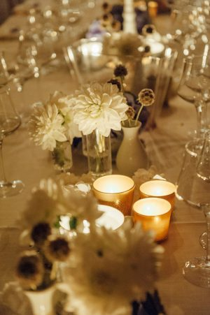 White wedding table decorations - FunkyBird Photography