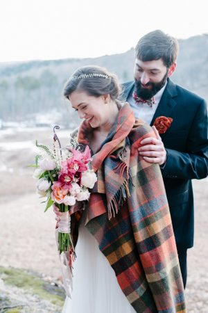 Romantic winter wedding photo - Luv Lens Photography