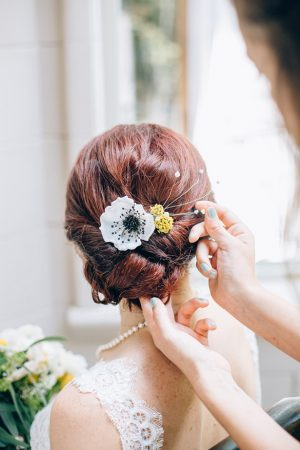 Bridal updo - Sowing Clover Photography