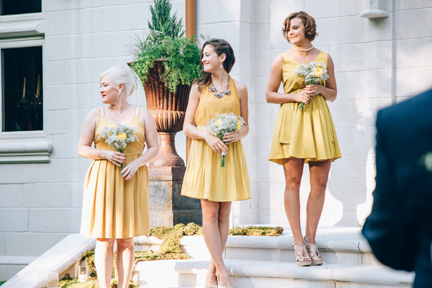 Yellow bridemaid dresses - Sowing Clover Photography