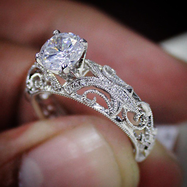 Diamond Mansion Engagement Ring
