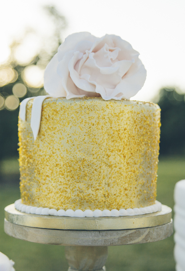 Gold Wedding Cake - Kane and Social