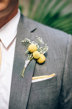 Groom boutonniere - Sowing Clover Photography