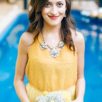 Mustard bridesmaid dress - Sowing Clover Photography