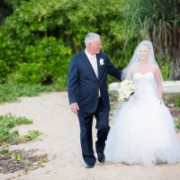 Walking down the aisle - Noble Photography