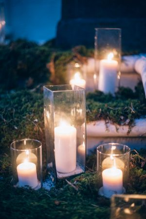Wedding candles - Sowing Clover Photography