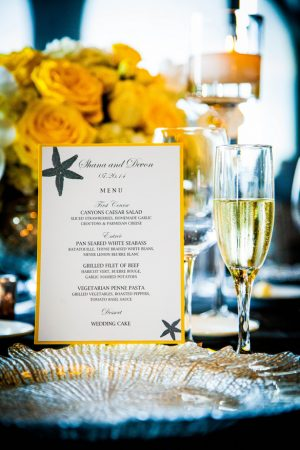 Wedding menu - Brett Charles Rose Photo