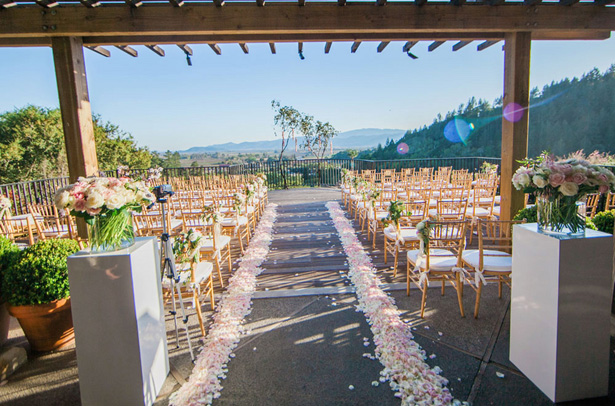Ceremony aisle - Clane Gessel Photography
