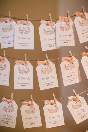 Wedding seating chart - Clane Gessel Photography