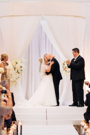 Wedding first kiss - Clane Gessel Photography