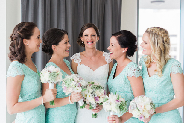 Mint Bridesmaid Dresses - Mario Colli Photography