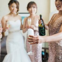 Wedding Champagne - Leigh+Becca Photography
