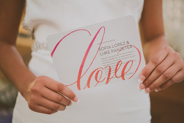 Modern Wedding Invitation- Cristina Navarro Photography