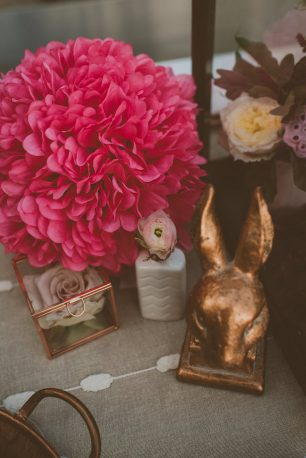 Pink Wedding Details - Cristina Navarro Photography