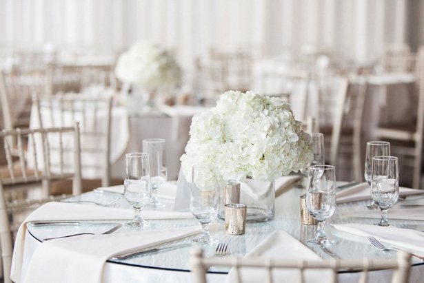 White Wedding Tablescape - Leigh+Becca Photography