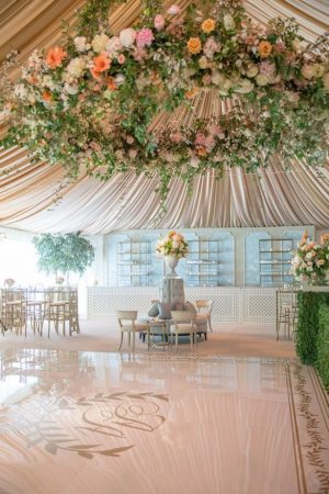Wedding Tent Decorations - Photography by Aaron Delesie